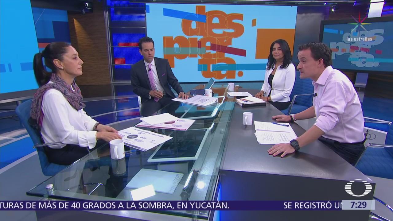 Claudia Sheinbaum, Alejandra Barrales y Mikel Arriola en Despierta con Loret