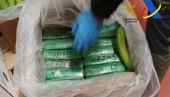 España incauta contrabando récord de cocaína en Europa entre cajas de plátanos