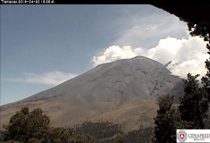 Popocatépetl registra 57 exhalaciones y 5 explosiones en últimas 24 horas
