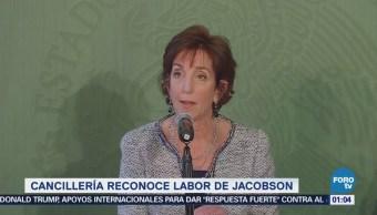 De manera cordial, funcionarios mexicanos se reúnen con Jacobson