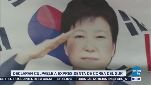Declaran culpable a Park Geun-Hye, expresidenta de Corea del Sur, por coerción