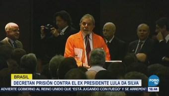 Decretan prisión contra expresidente Lula da Silva