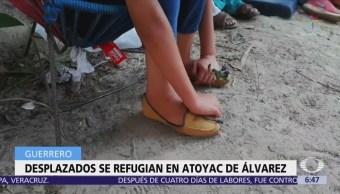 Desplazados de San Miguel Totolapan, Guerrero, llegan a Atoyac