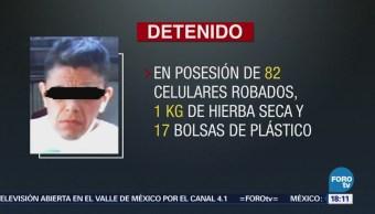 Detienen Cdmx Presunto Ladrón 4 Mil Celulares