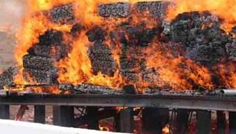 PGR incinera una tonelada de marihuana y 100 kilos cocaína en Chihuahua
