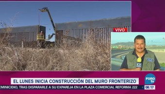 Lunes Inicia Construcción Muro Fronterizo