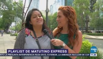 Érika Kaiser presenta el Playlist de Matutino Express