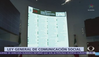 El Senado aprueba la Ley General de Comunicación Social