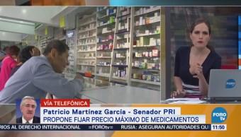 El senador Patricio Martínez propone fijar precio máximo a medicamentos