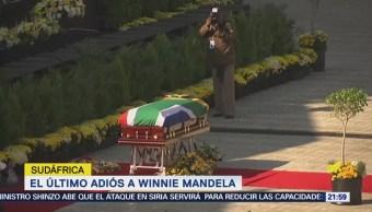 Último Adiós Winnie Mandela, Sudáfrica Esposa Nelson
