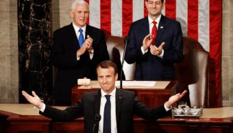 Ofrece Macron un discurso ante el Congreso de EU