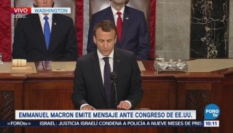 Emmanuel Macron ofrece discurso ante el Congreso de Estados Unidos