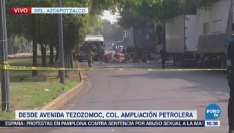 Encuentran tambos con sustancias tóxicas en la colonia Ampliación Petrolera, Azcapotzalco