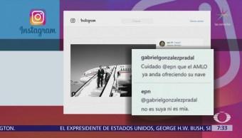 EPN responde en red social que el avión presidencial no es suyo