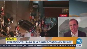 Expresidente Lula da Silva cumple condena en prisión