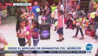Festejan Niños Mercado Granaditas Colonia Morelos