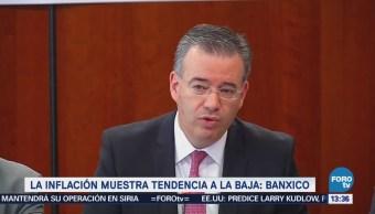 Gobernador de Banxico afirma que la inflación tiene tendencia a la baja