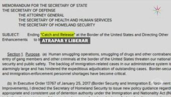 Gobierno de Trump ordena cero tolerancia contra indocumentados