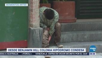 Hombre cae entre dos bardas en la colonia Hipódromo Condesa, CDMX