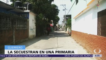 Hombres armados secuestran a una mujer en escuela de Acapulco