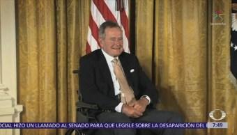 Hospitalizan a George Bush padre, días después del entierro de su esposa