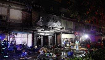Detienen a sospechoso de incendio en China que dejó 18 muertos