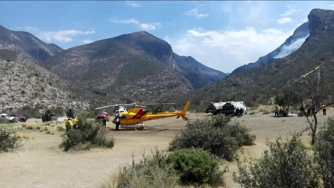 Fuera de control, incendio en la sierra de Zapaliname en Saltillo