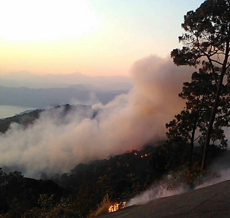 Controlan en 95 por ciento incendio en Monte Alto, Valle de Bravo