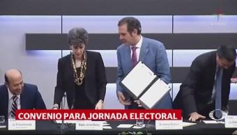 INE y TEPJF firman convenio para jornada electoral
