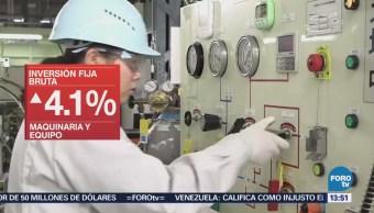 INEGI informa que la inversión fija bruta en México tuvo un aumento