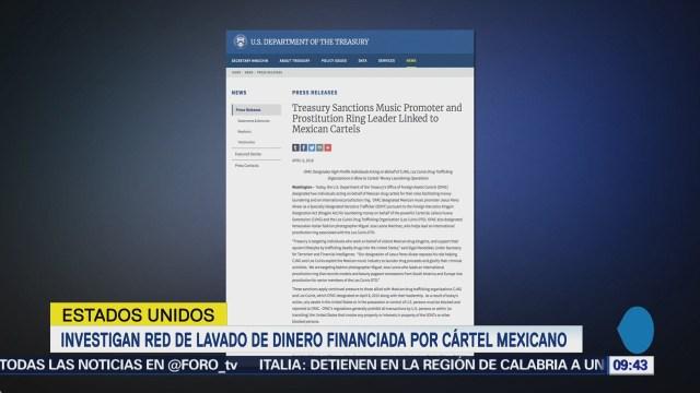 Investigan red de lavado de dinero financiada por cártel mexicano
