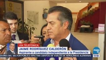 Jaime Rodríguez 'El Bronco' habla de su campaña y contricantes en FOROtv