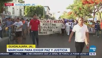 Jaliscienses exigen paz y justicia