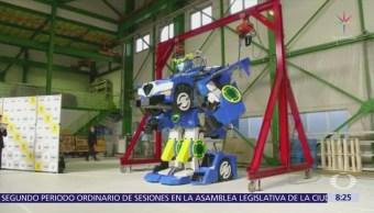 Japoneses presentan robot que se transforma en coche
