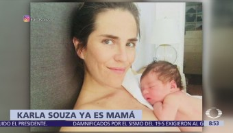 Karla Souza se convierte en madre