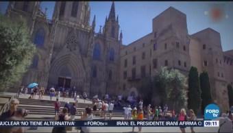 La catedral de la Santa Cruz y Santa Eulalia, en Barcelona
