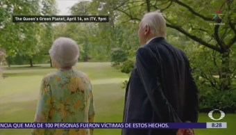 La reina Isabel II bromea sobre Donald Trump y Barack Obama