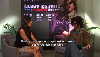 Lenny Kravitz, en México para sorprender y sorprenderse