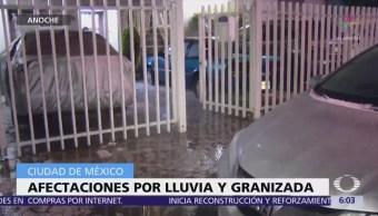Lluvia y granizo afecta 6 colonias de Iztapalapa