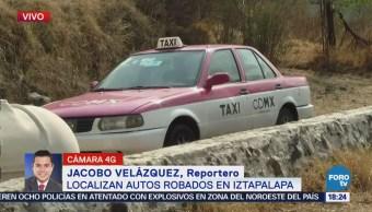 Localizan Autos Robados Predio Iztapalapa CDMX
