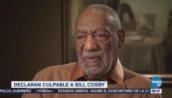 Declaran culpable al actor Bill Cosby