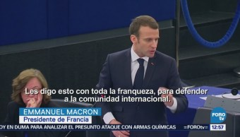 Macron defiende decisión de lanzar ataques aéreos contra Siria