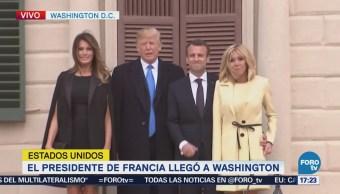 Macron Inicia Visita Estado Estados Unidos