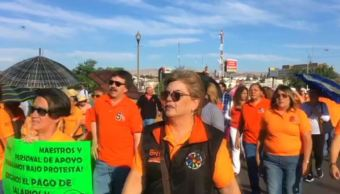 Maestros en Chihuahua mantienen paro de labores por segundo día consecutivo