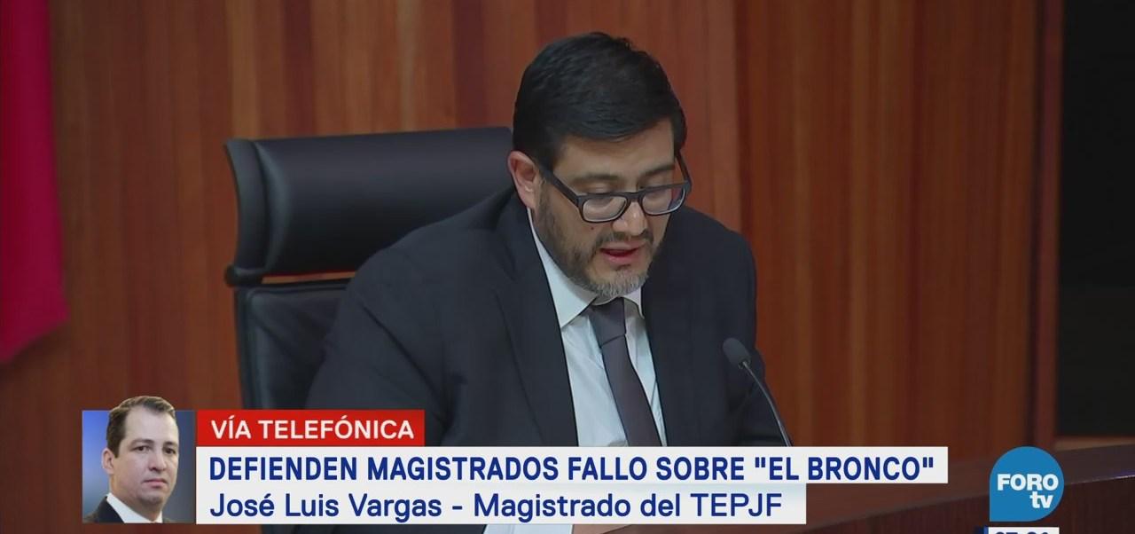 Magistrado del TEPJF Luis Vargas explica fallo a favor de El Bronco