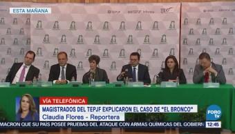 Magistrados del TEPJF explican resolución a favor de 'El Bronco'
