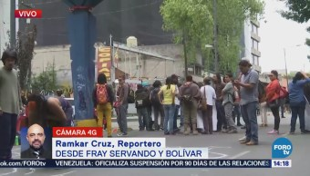 Manifestantes Afectan Avenida Fray Servando Cdmx