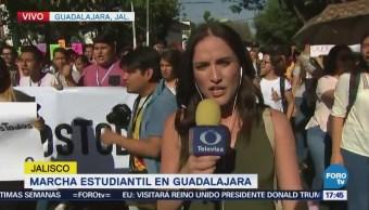 Manifestantes en Guadalajara demandan seguridad y justicia