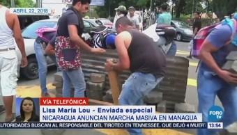 Manifestantes Nicaragua Anuncian Marchas Masivas