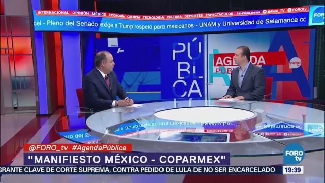 Manifiesto México Coparmex entrevista con Gustavo de Hoyos